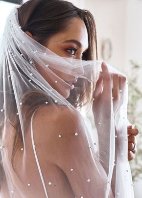 pearly long veil, 325