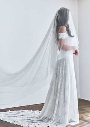 pearly short veil, 325