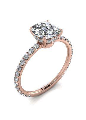 9 rosevalentin coussin, Diamants Et Carats
