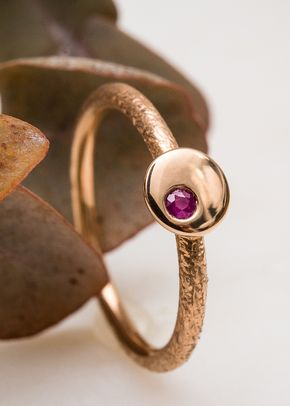 Bague Rosam + pierre, or Fairmined, 850