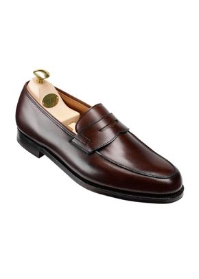Grantham Dark Brown Burnished Calf, Crockett & Jones