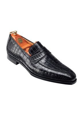 MERTON Black Crocodile, Crockett & Jones