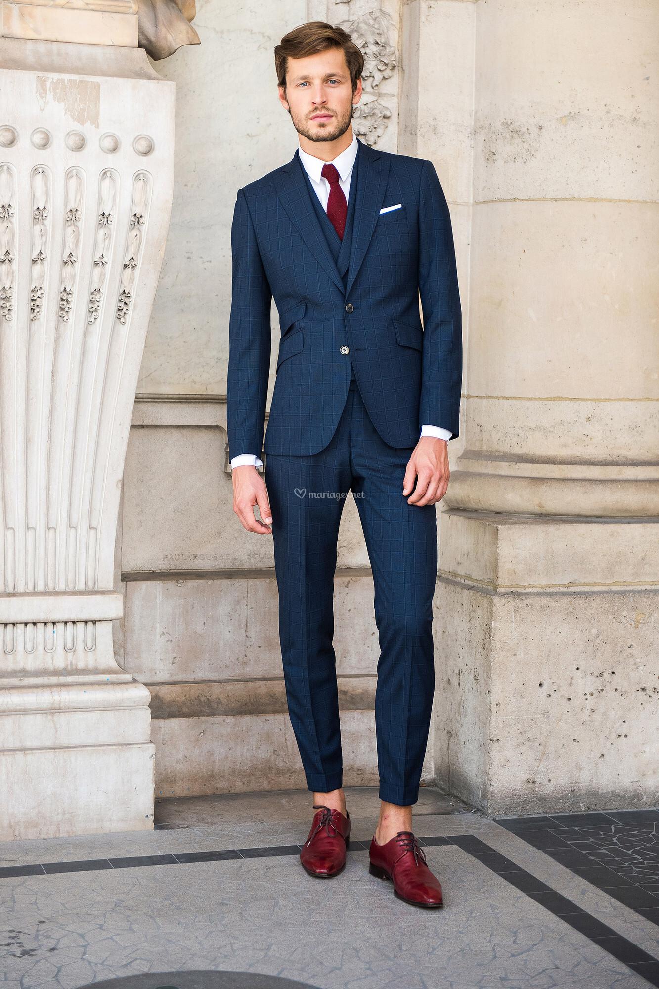 costume homme 3 pieces bleu - Ecosia 1189236244c