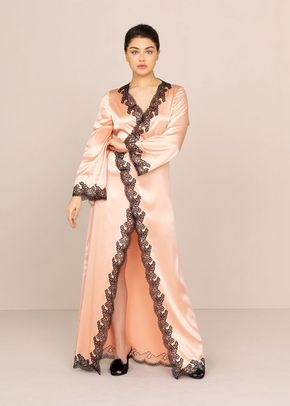 Amelea Long Gown Pink and Black, 439