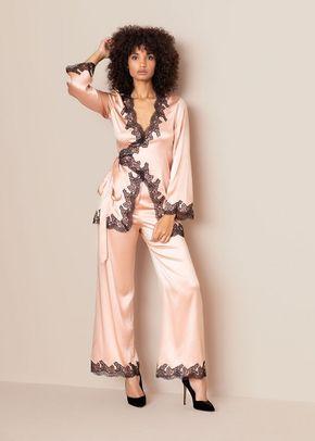 Amelea Pyjama Top Pink Black, 439