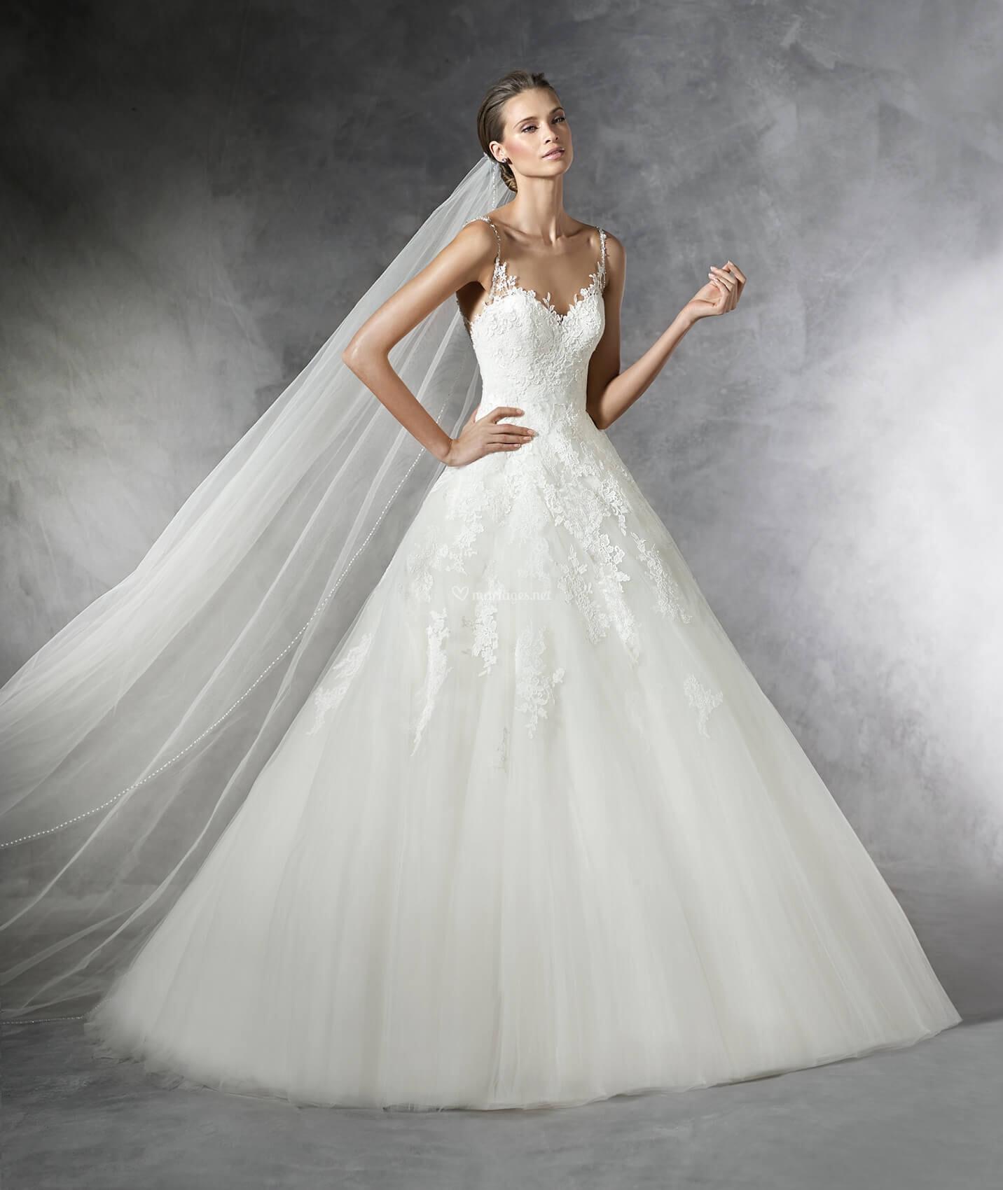 recherche de véritables réel classé large choix de couleurs Robes de mariée sur Pronovias - PRALA - Mariages.net