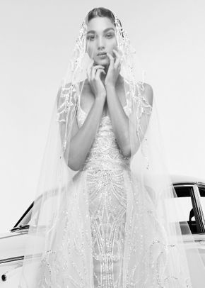 rina with veil, Zuhair Murad