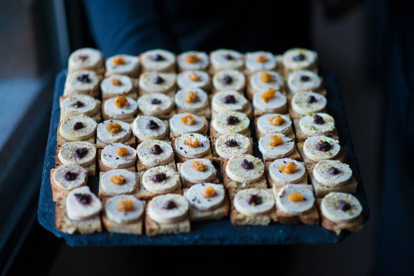 Foie gras croquants