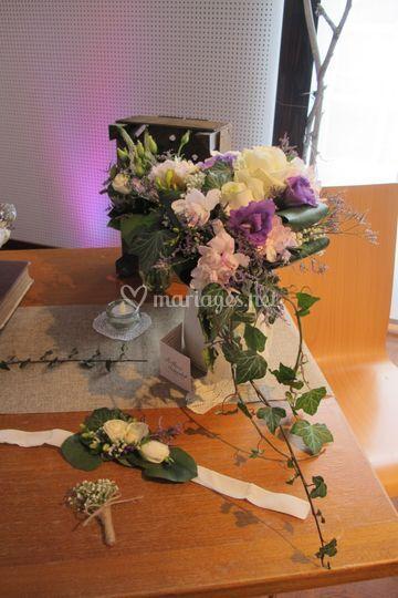 Bouquet semie cascade+bracelet