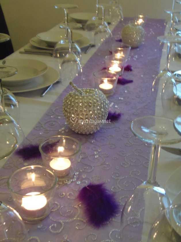 Bougie Décoration De Table déco chemin de table + bougies de histoire de noces | photo 38