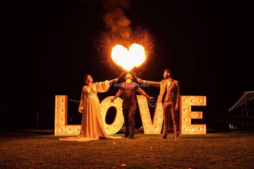 Cœur en feu