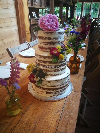 Naked cake champêtre