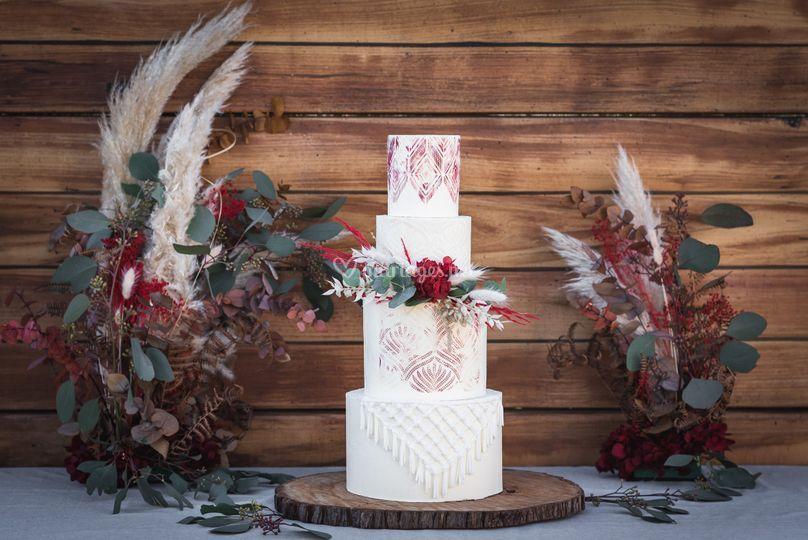Layer cake boho folk