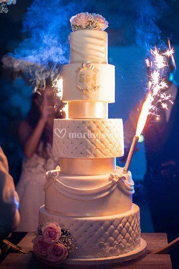 Gâteau mariage destructure