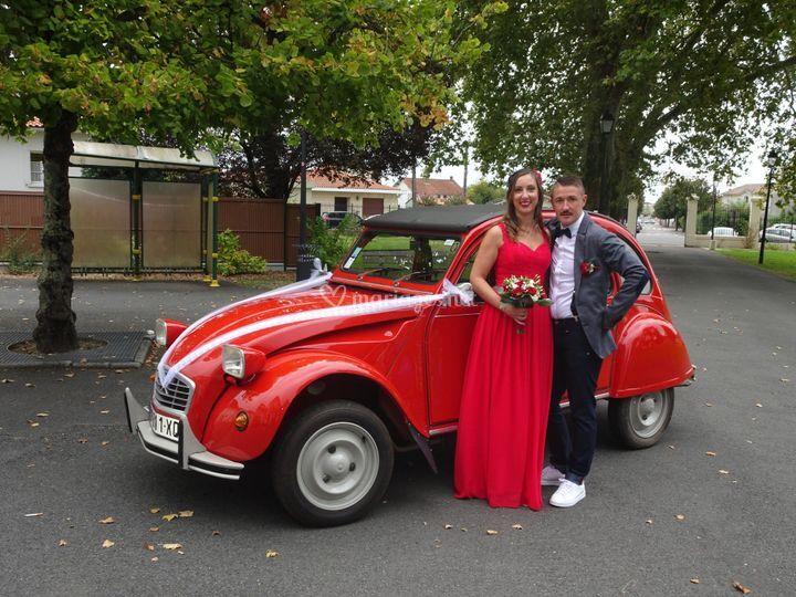 La voiture des mariés