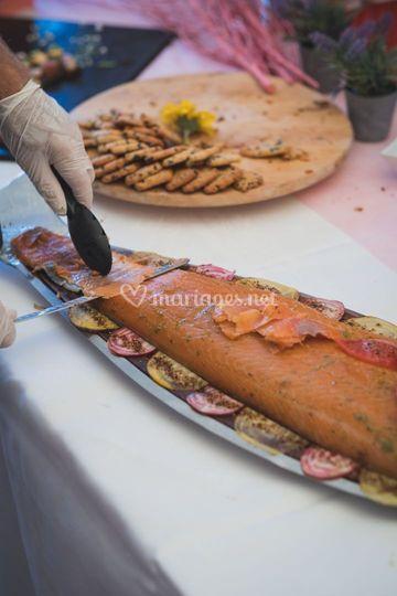 Animation saumon fumé