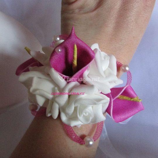 Bracelet bouquet éternel demoiselle d'honneur