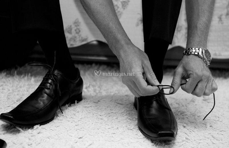 Le marié chaussures