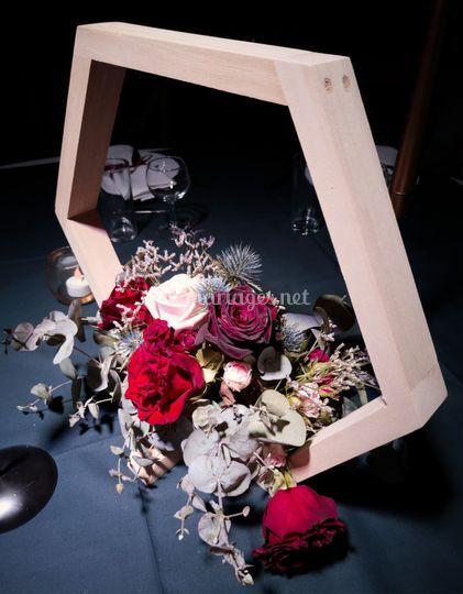 Centre de table géométrique