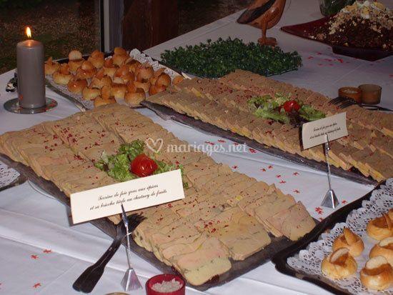 Fois gras buffet