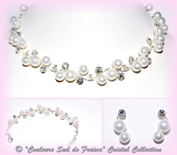 Parure et bracelet perles