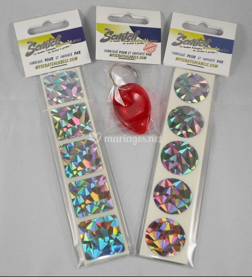 Stickers à gratter Hologram