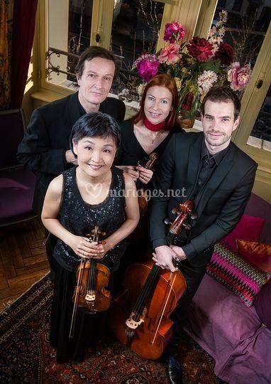 Quatuor portrait intérieur