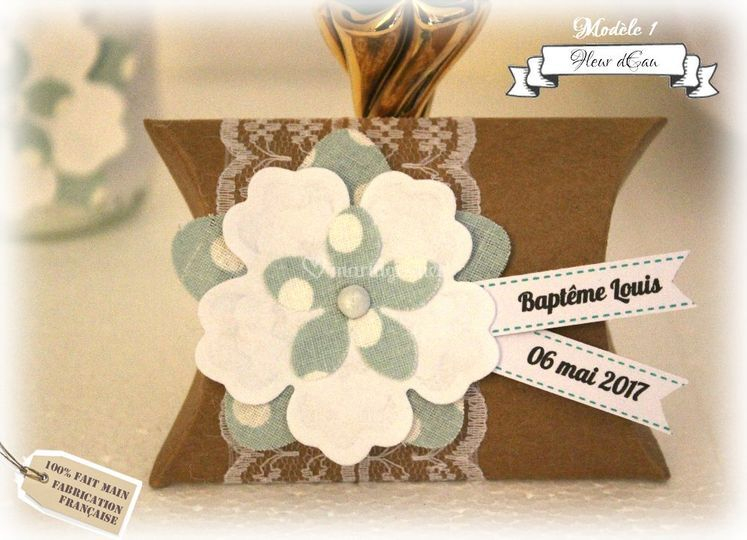 Boîte à dragées Fleur d'Eau