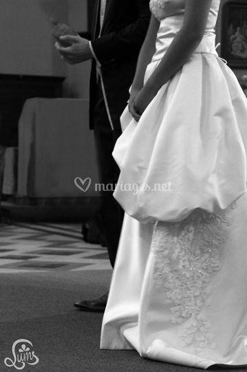Pendant la ceremonie religieus