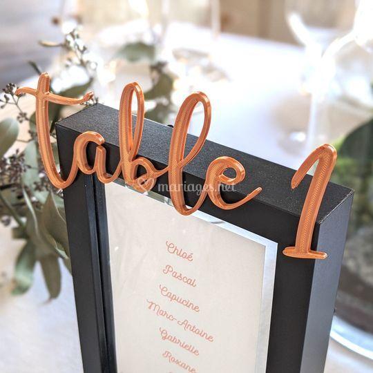 Numéro de table