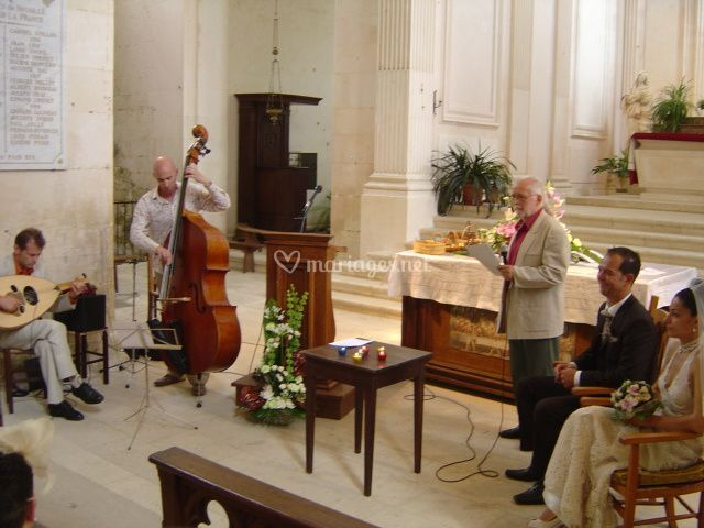 Mariage église duo oud (luth)