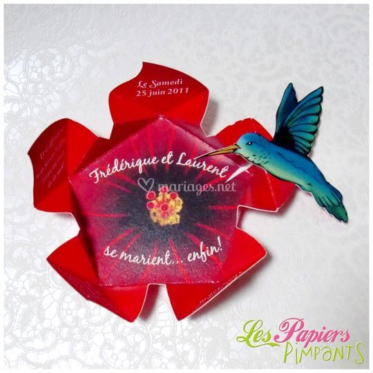 Faire-part Origami des Iles