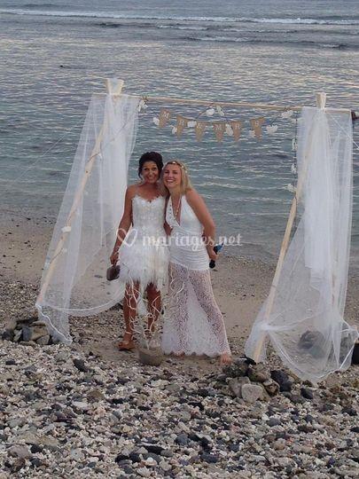 Mariage plage - Réunion 2015
