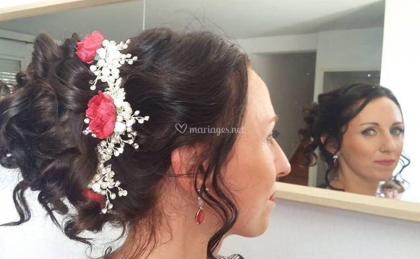 Mise en beauté de la mariée