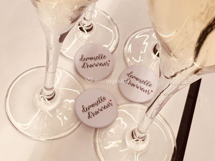 Badges Demoiselle d'honneur