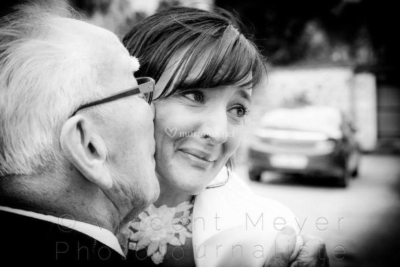 La mariée et son grand-père