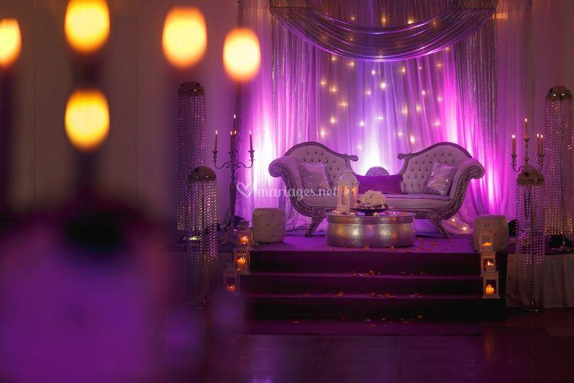 L'espace des mariés