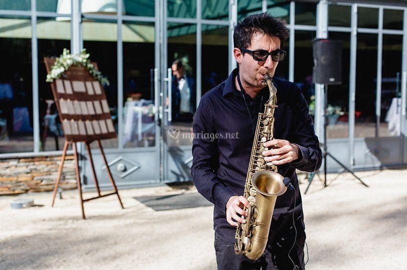Prestation saxophoniste