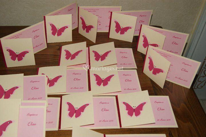 Faire part thème papillon