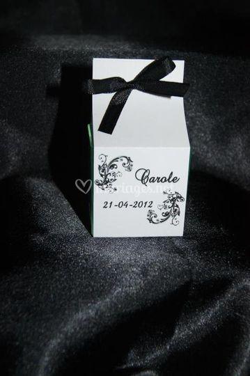 Cube chocolat personnalisé