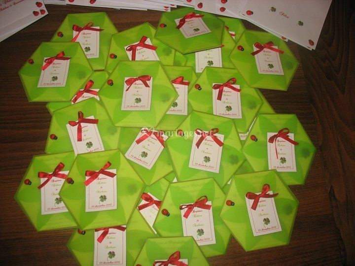 Faire part hexagonal