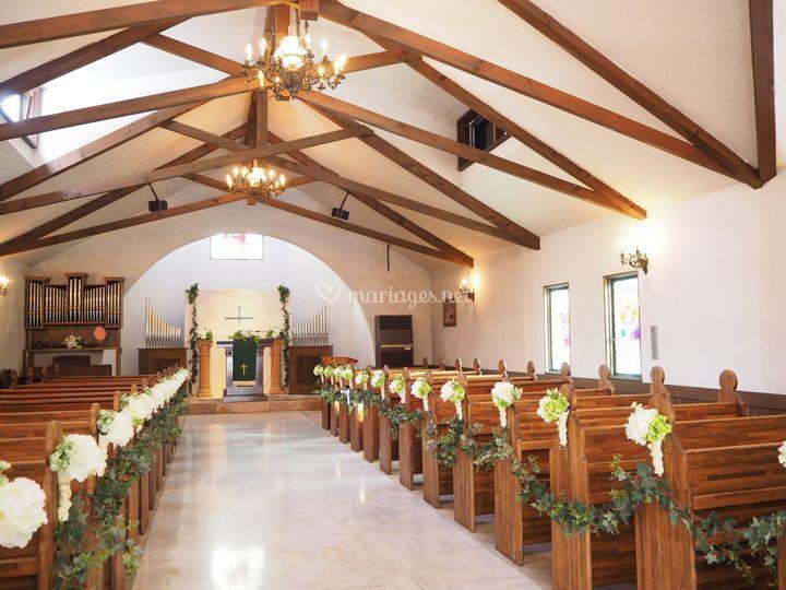 Bouts de bancs église