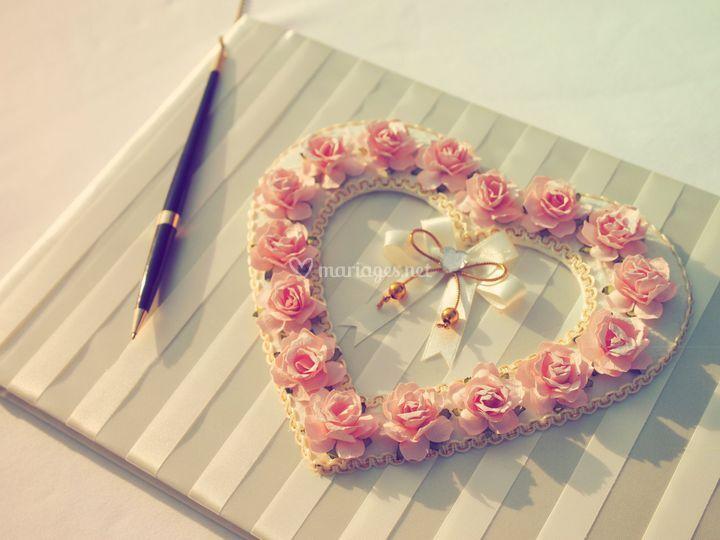 Livre d'or romantique