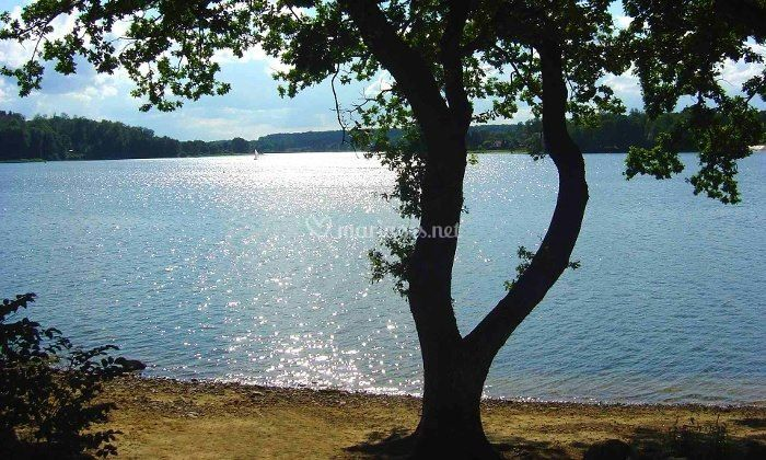 Le lac à 20 m du restaurant
