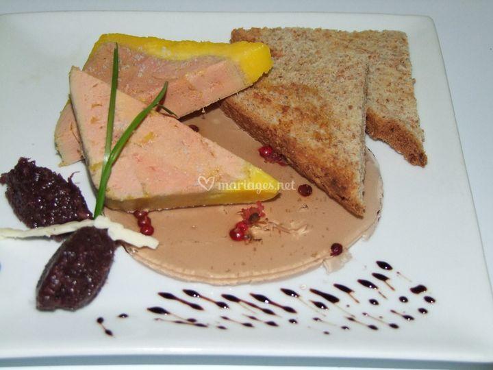 Assiette de foie gras en gelée