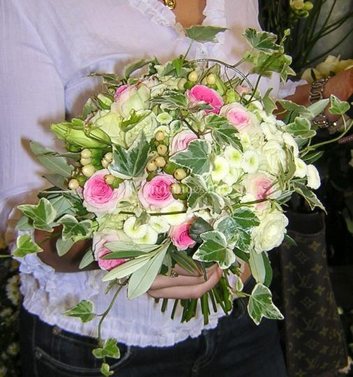 Bouquet rond nature