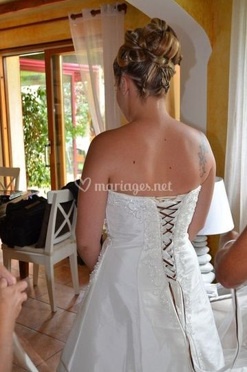 Vue de l'arrière de la robe