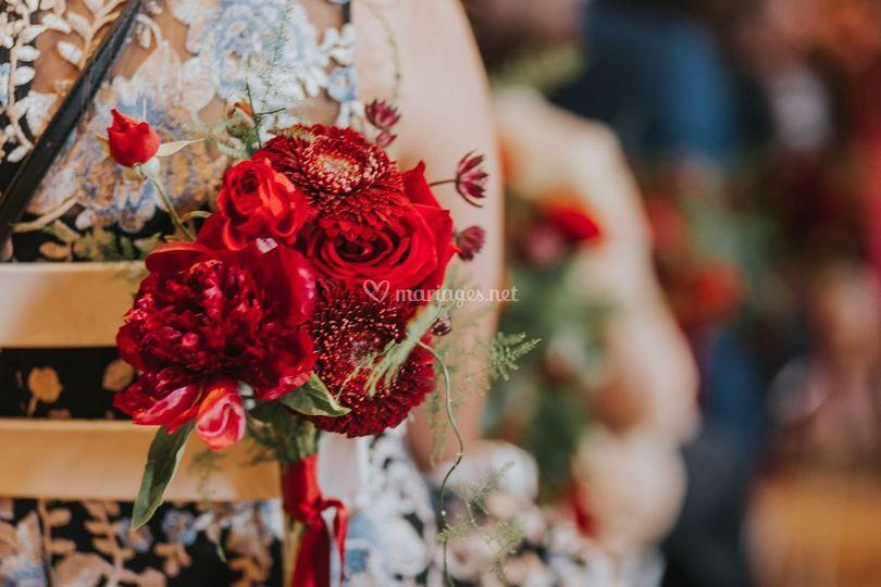 Détail floral cérémonie laïque