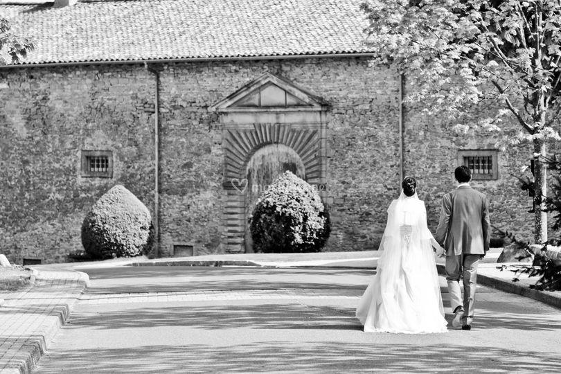 Couple mariage Beaujolais