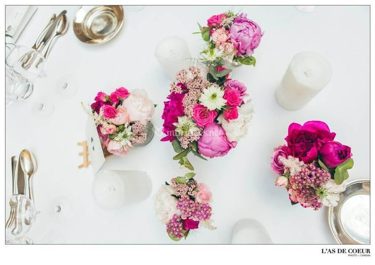 Mariage tons roses